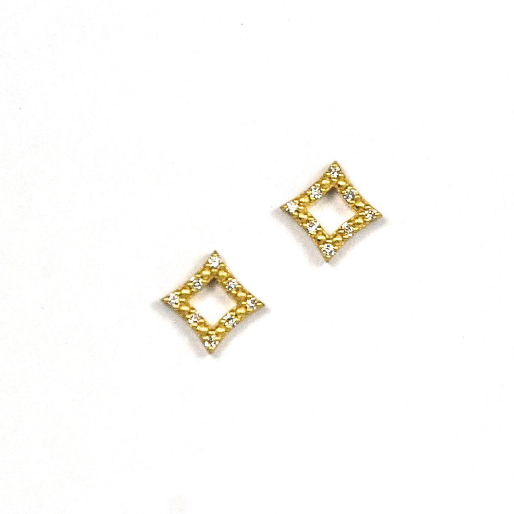 Mini Open Star Stud Earrings