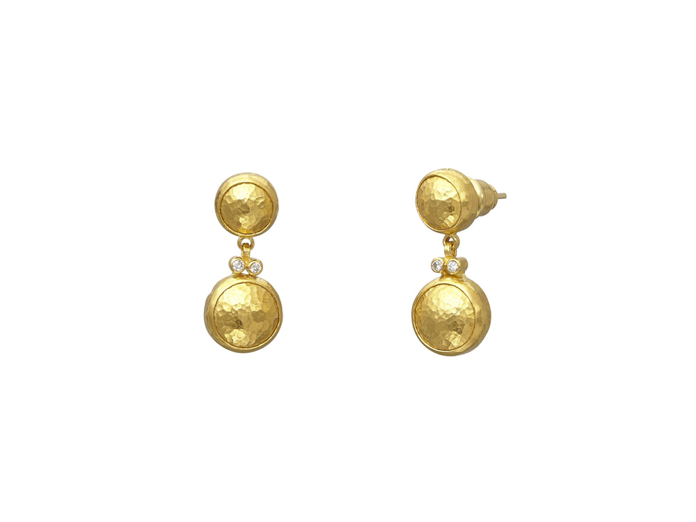 Double Drop Amulet Earrings