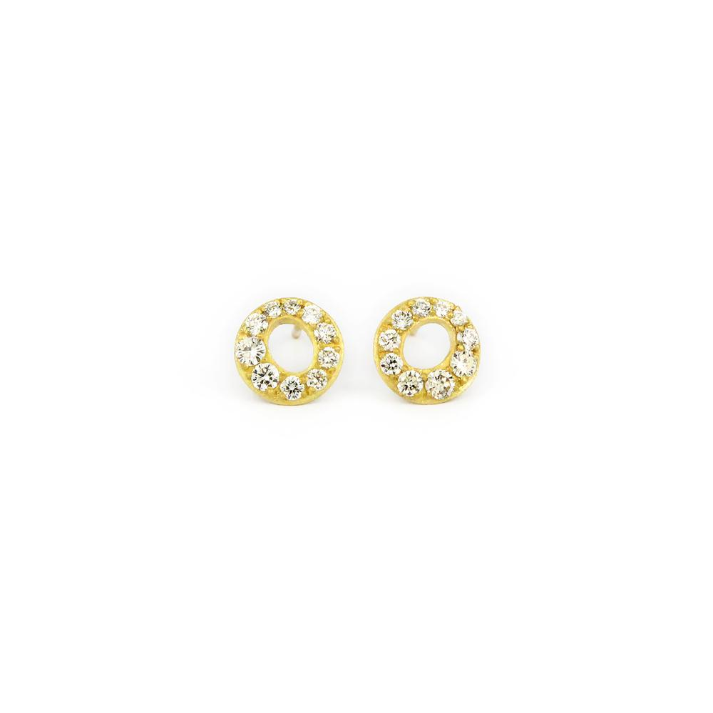 MICRO PAVE HALO STUD EARRING
