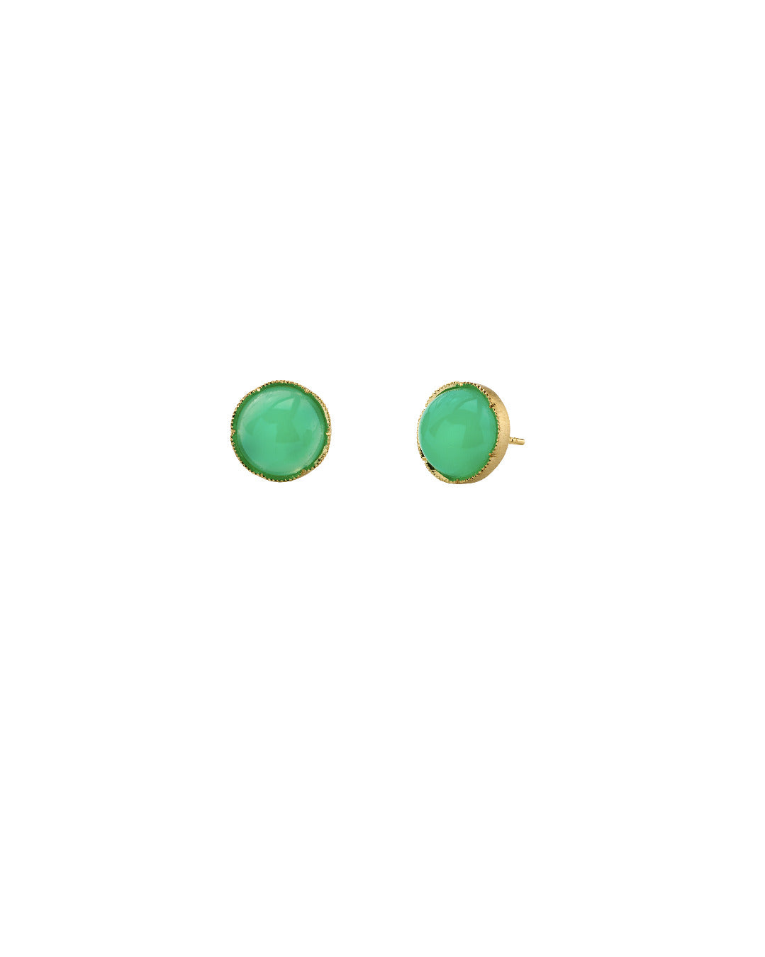 Chrysoprase Stud Earrings