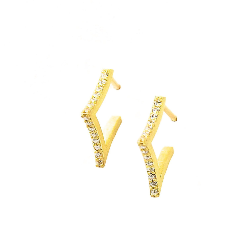 MINI PAVE FALLING STAR HOOPS
