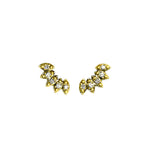 MINI PETAL CLIMBER STUD EARRINGS