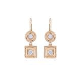 Round & Square Twist Earrings