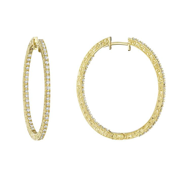 Oval In and Out Hoop Earrings
