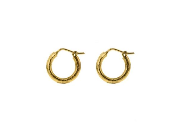 Big Baby Hammered Hoops, 16mm