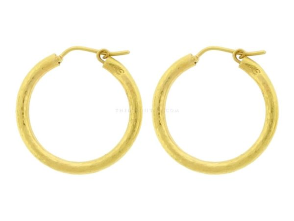 Giant Hammered Hoops, 25mm
