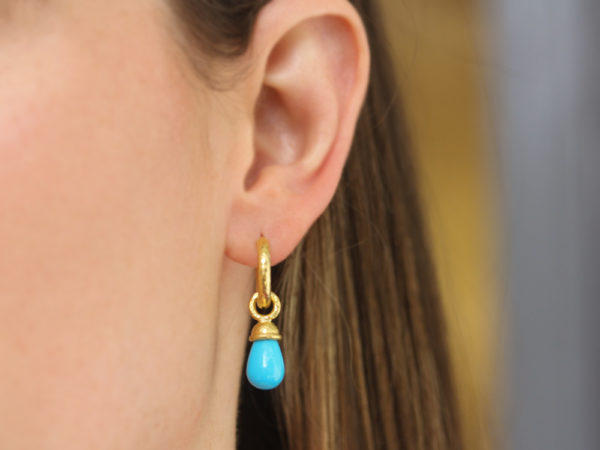 Turquoise Drop Earring Charms
