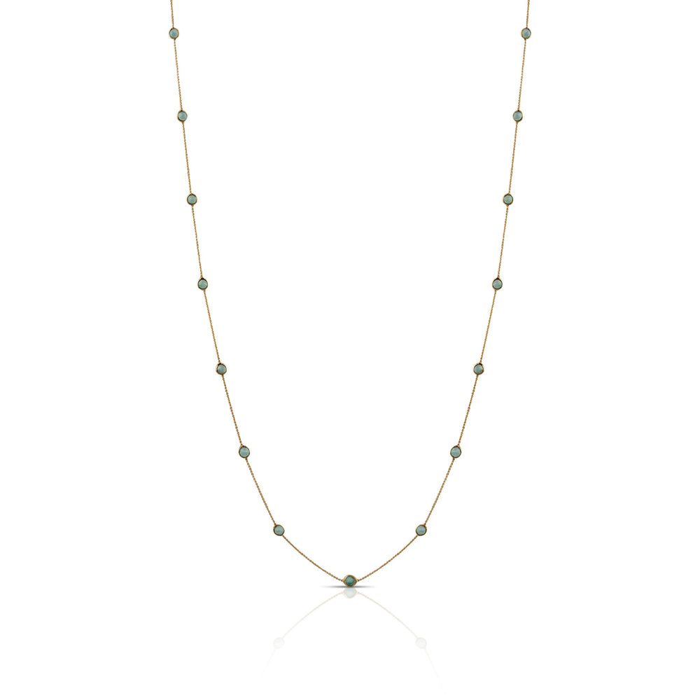 Long Round Emerald Necklace