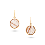 Copper Rutile Simple Round Dangle Earring
