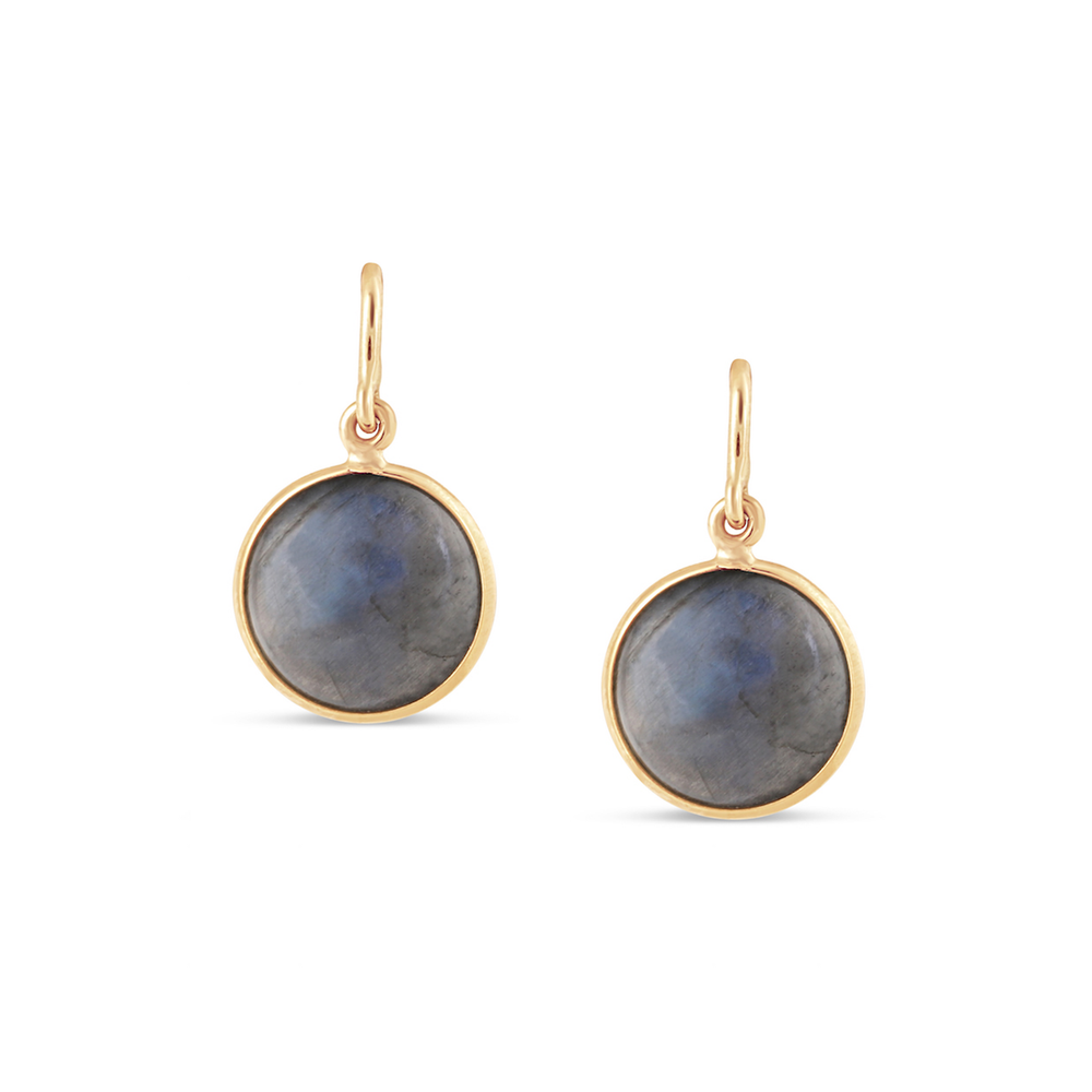 Labradorite Simple Round Dangle Earring