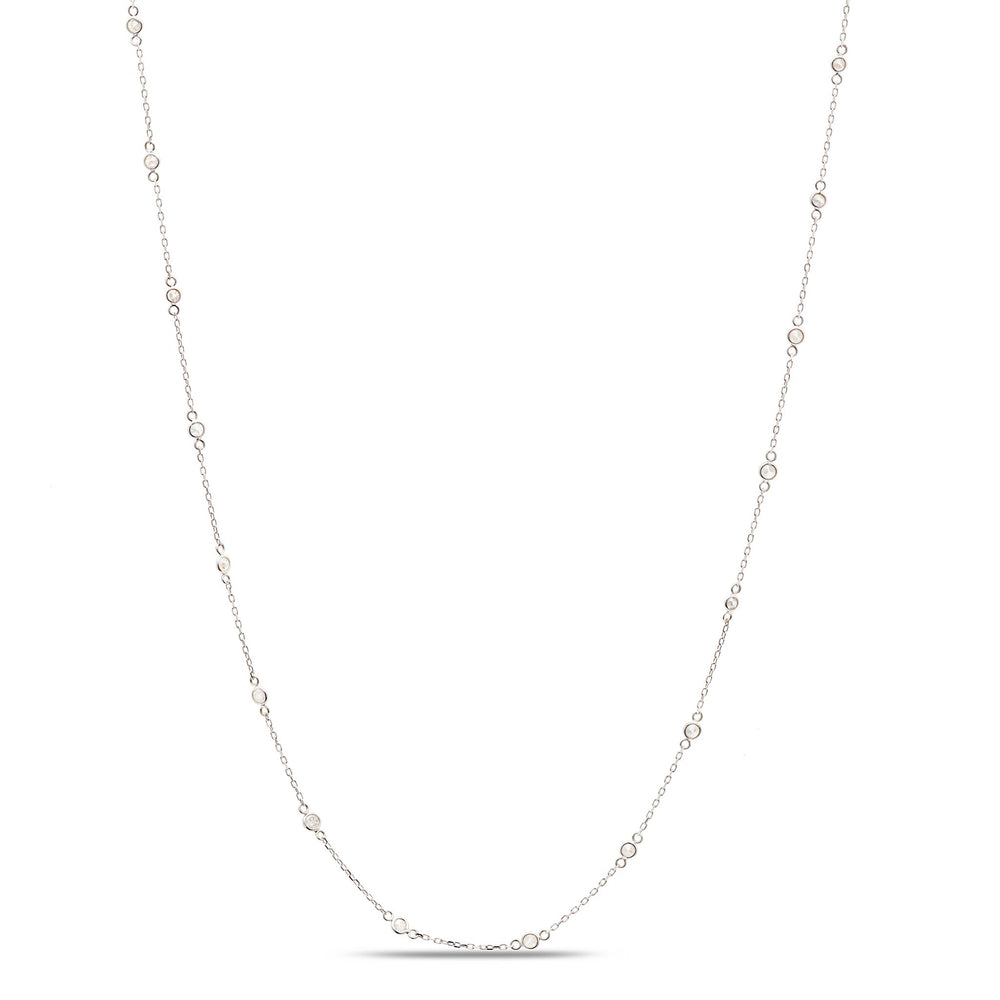 Diamond Fin Long Necklace