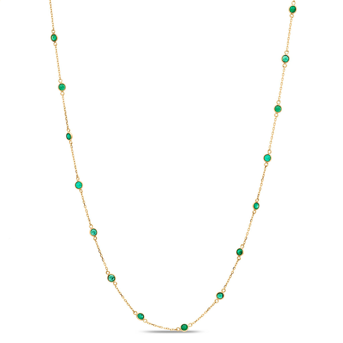Emerald Round Necklace