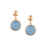 Flora Aquamarine Round Earrings