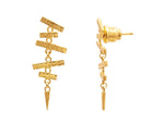 Mikado Gold Earrings, Feature, Drop with No Stone