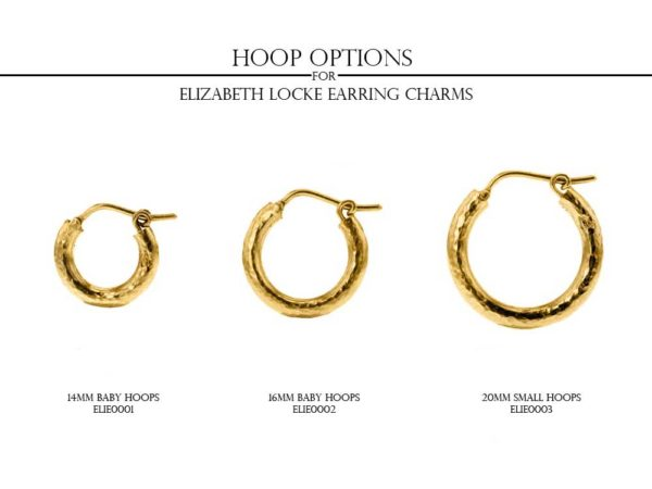 Round Gold Dome and Diamond Earring Charms