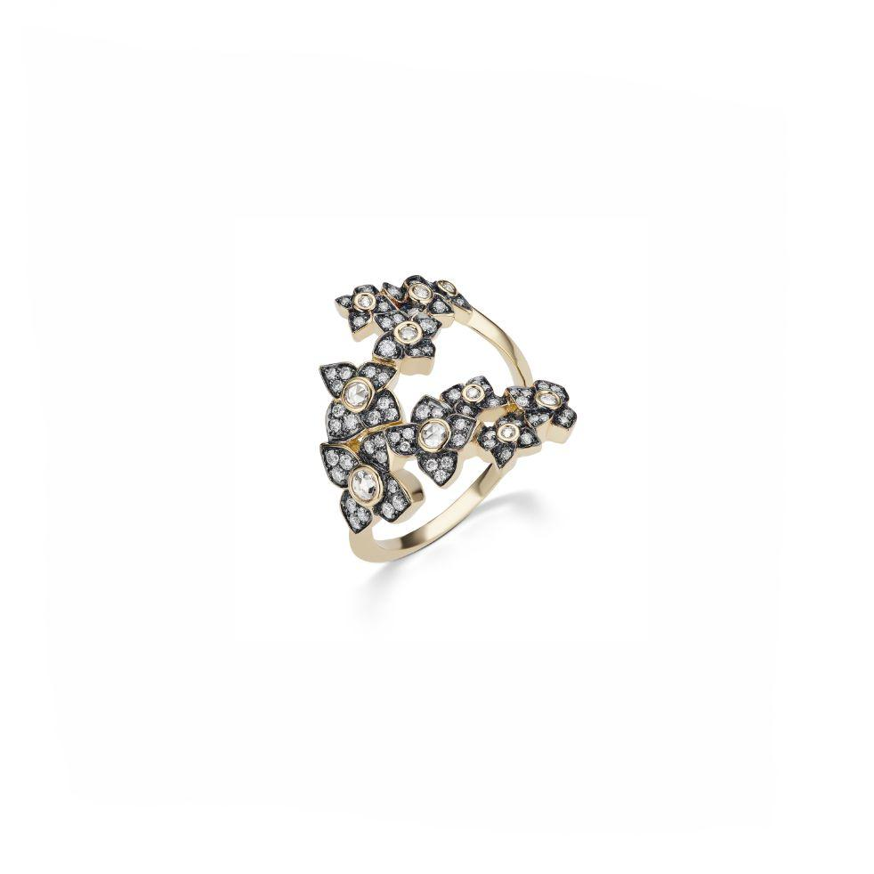 HAIL STORM FIORE MOTIF RING