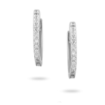 White Gold Huggie Hoops with Diamond