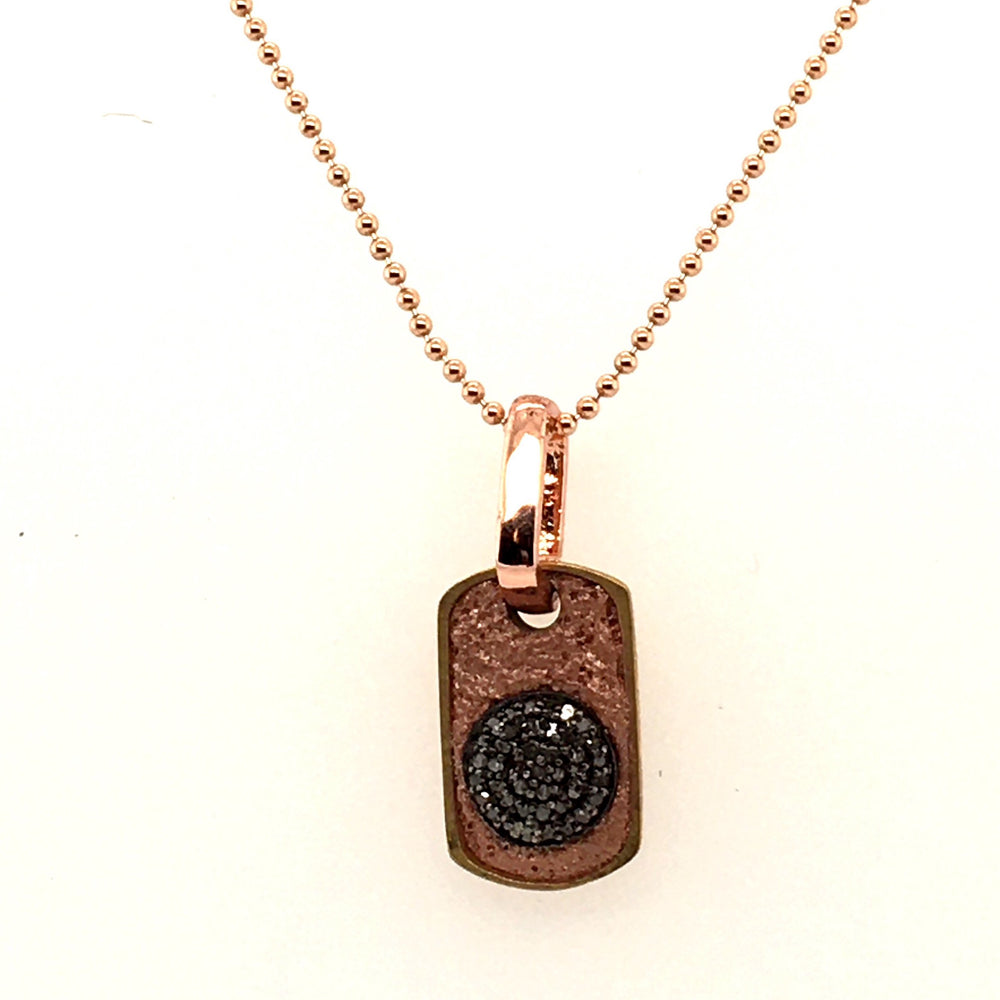 Small Dog Tag with Champagne Diamonds