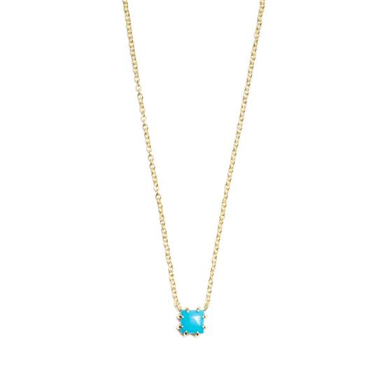 Javina necklace with turquoise