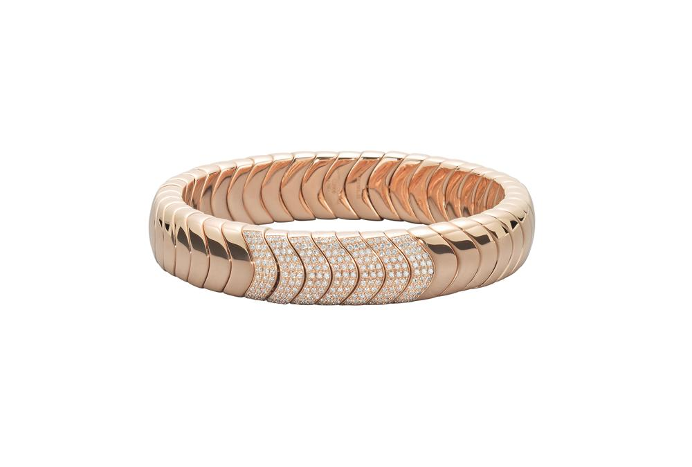 18k Rose Gold Soft Bangle