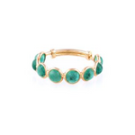 Emerald Round Stackable Ring