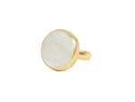 one of a Kind Round Moonstone Ring