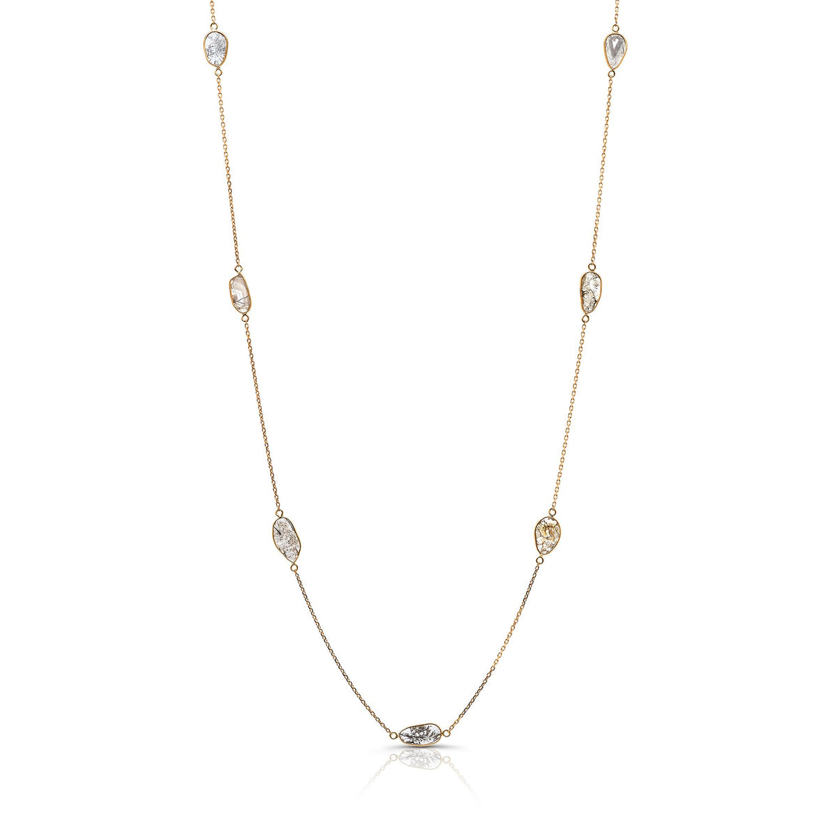 Organica Diamond Slice Necklace