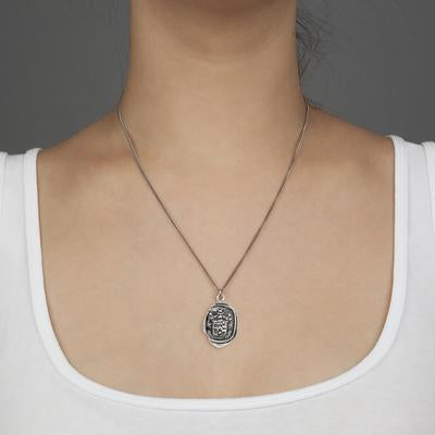 Love Conquers All Print Talisman Necklace