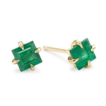 Primary Princess emerald stud earring