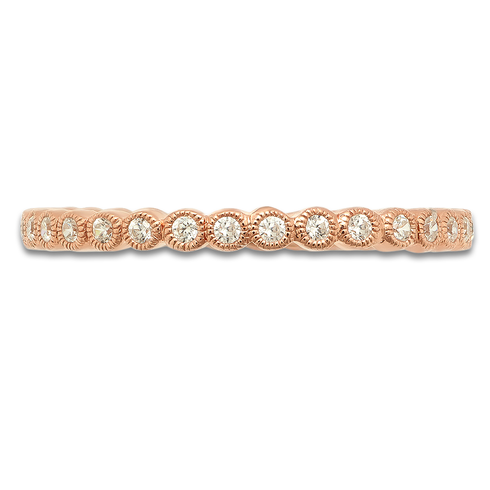 ROSE GOLD CIRCULAR DIAMONDS STACK-ABLE BAND