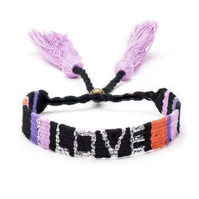 ATITLAN LOVE BRACELET - Black and Coral