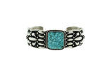 Sterling Silver and Square Turquoise Cuff