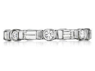 Stacking Baguette Diamond Band