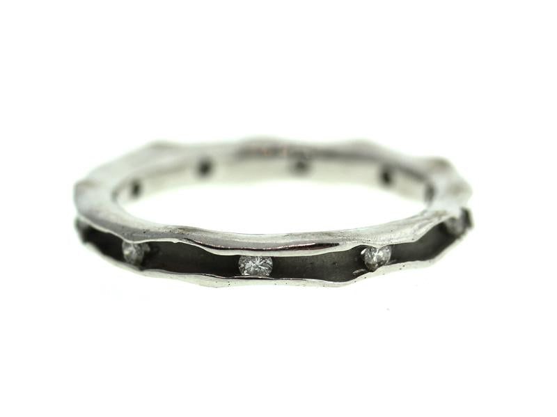 White Gold and Diamond Oyster Band