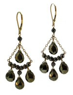 Pyrite Chandelier Earrings