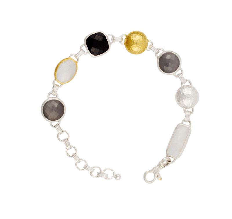 Moonstone and Spinel Bracelet