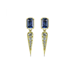 Claude earrings with blue sapphire and diamonds