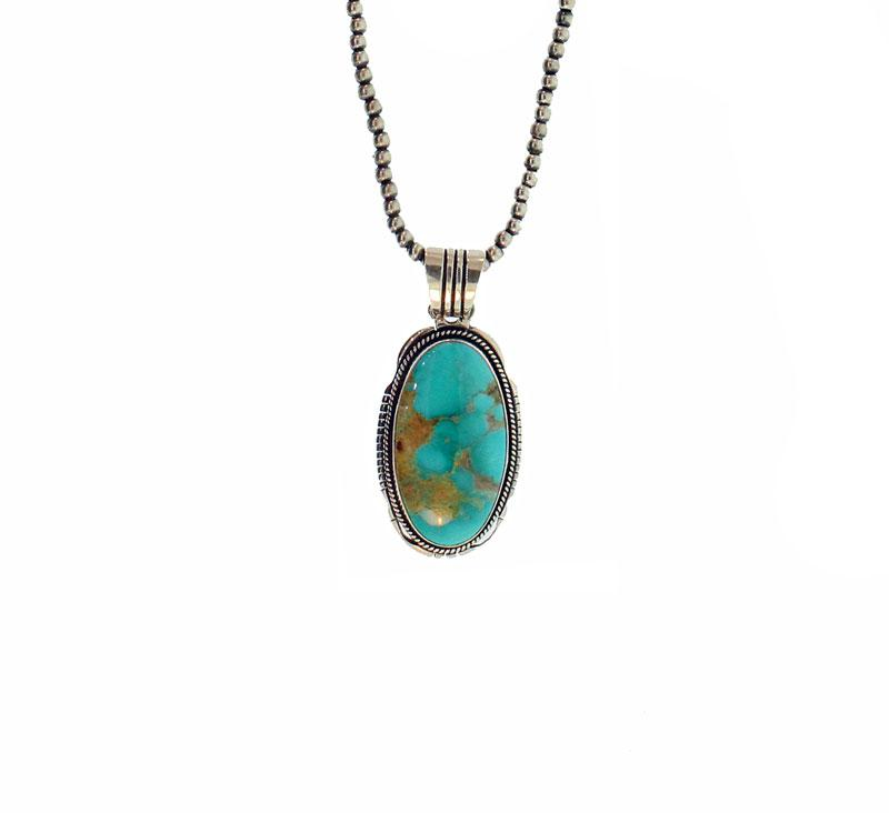 Turquoise Rope Pendant