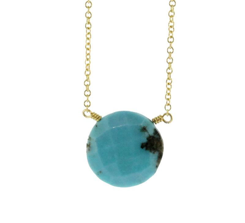 Circle Turquoise Brio Necklace