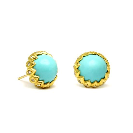 Turquoise Leena Stud Earrings