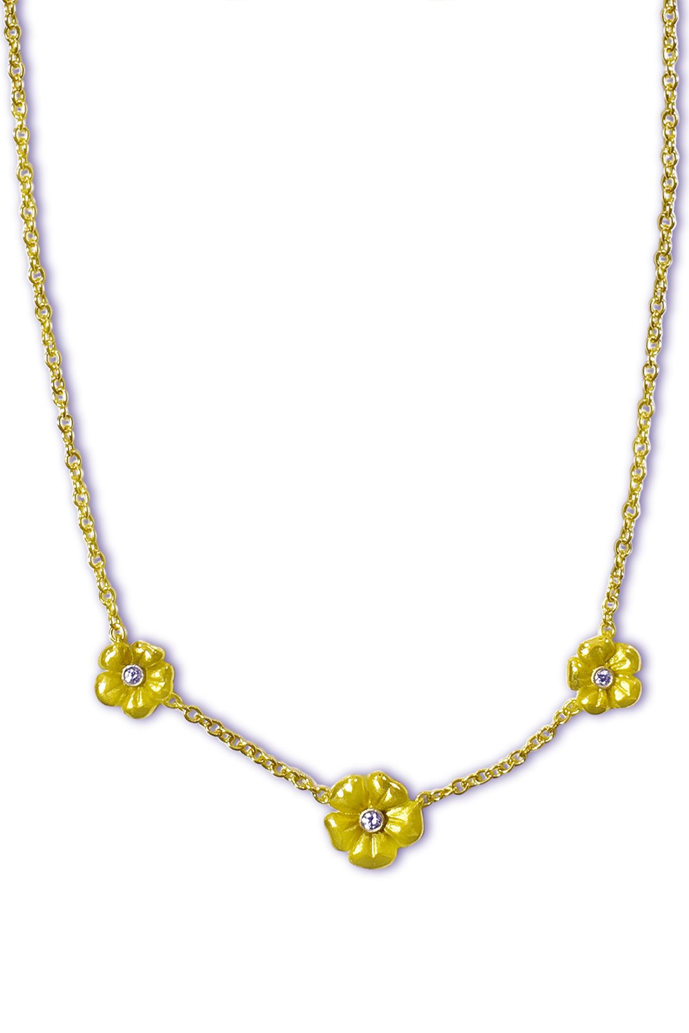 3 Blossom Flower Necklace