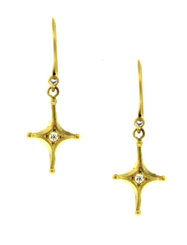 Margaret Diamond Cross Earrings