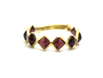 Faceted Rhodolite Adjustable Ring
