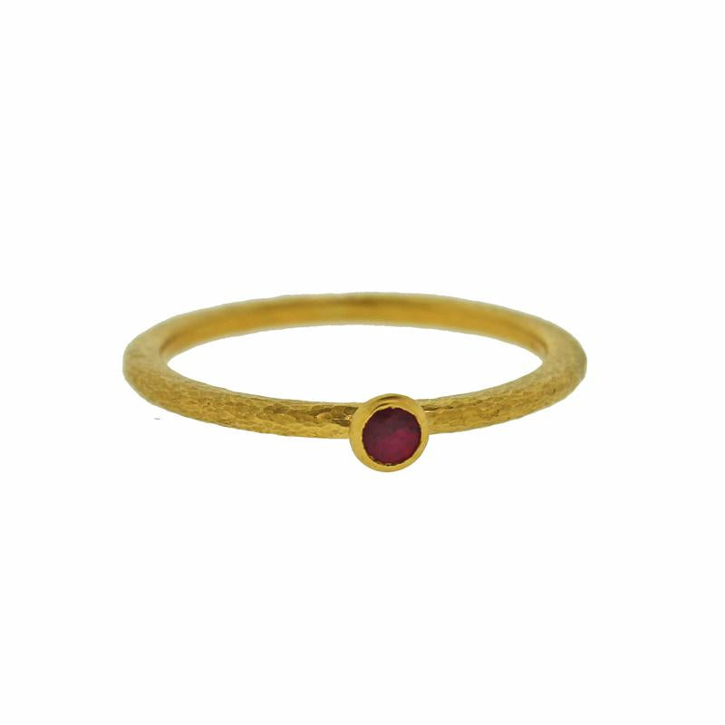 Ruby Skittle Stacking Ring
