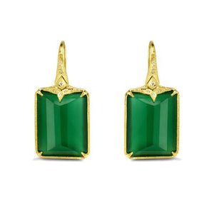 Ines Green Onyx Earrings