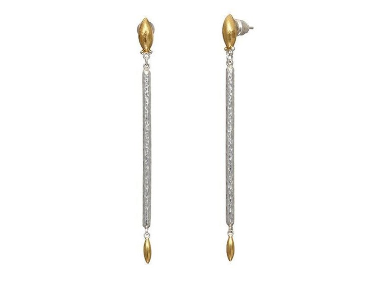 Sterling Silver Long Stick Earrings