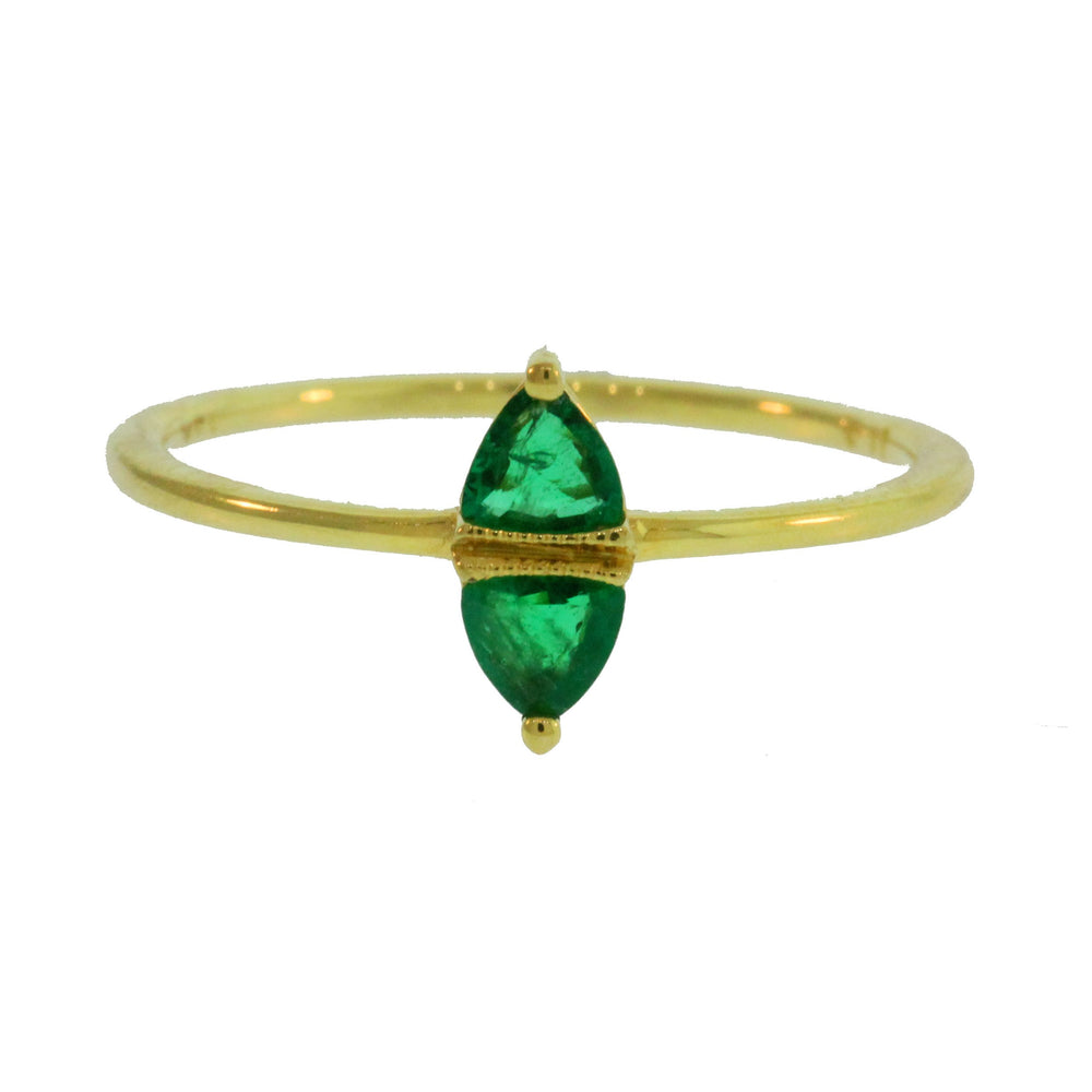 Nessa Gold Ring with Emerald