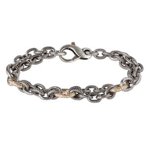 Chain Bracelet with rose gold