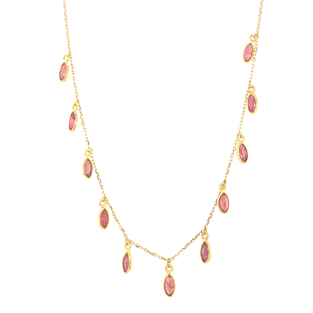 Ruby Marquise Dangle Necklace