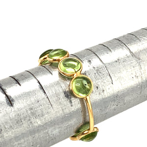 Peridot Round Stackable Ring Band